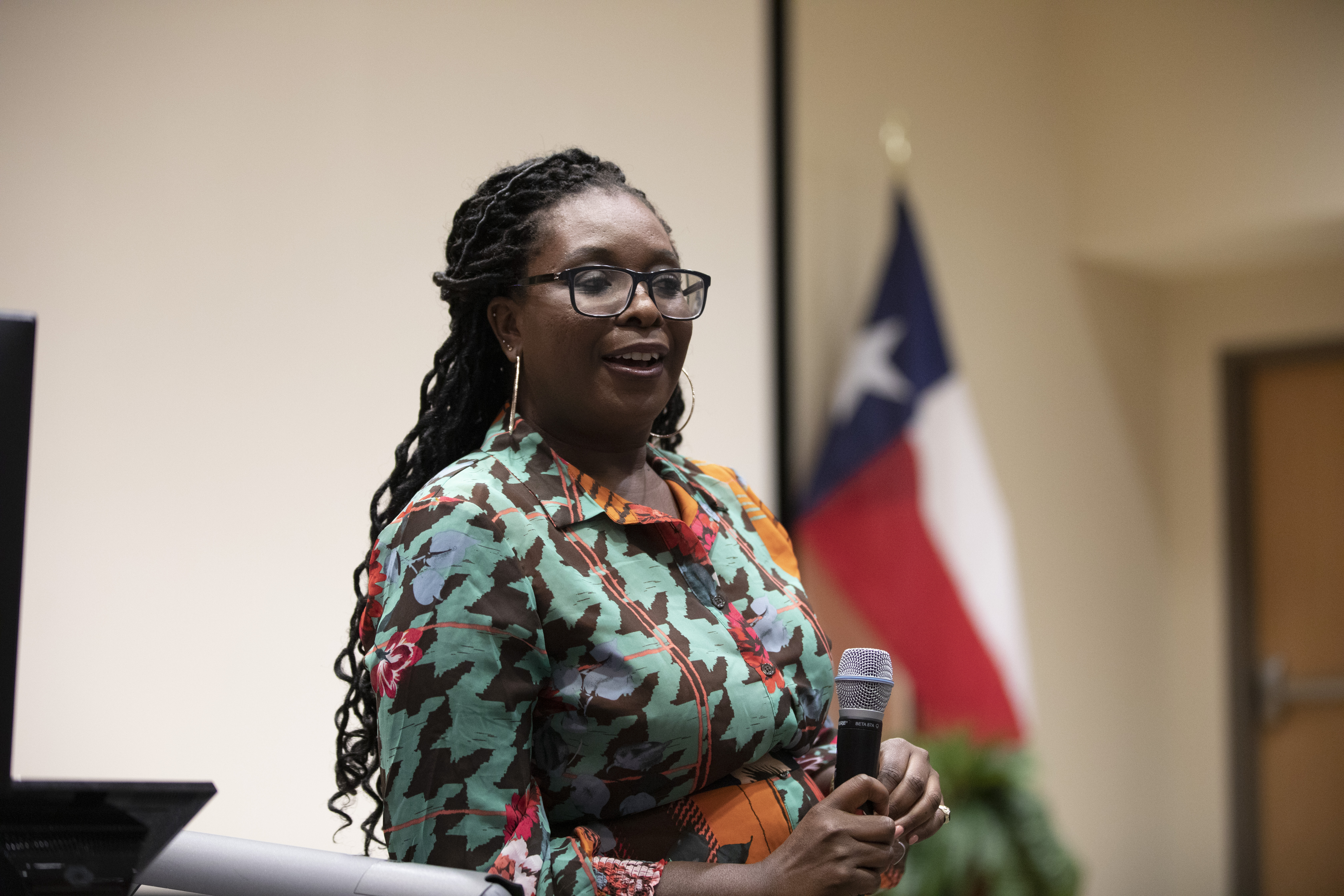 Aba Blankson visited Moody College and discussed her role overseeing internal and external plans related to brand management, public relations and marketing for the NAACP.