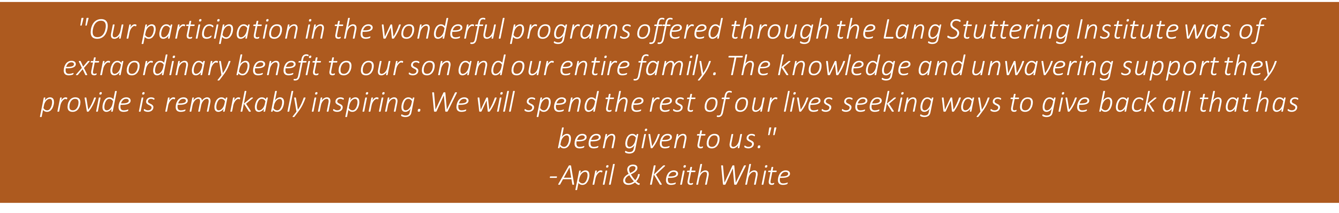 April and Keith White Quote