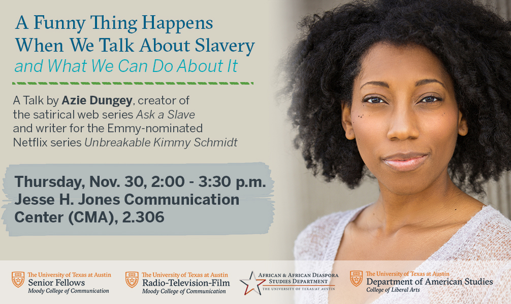 Talk by Azie Dungey on the intersection of race and social issues