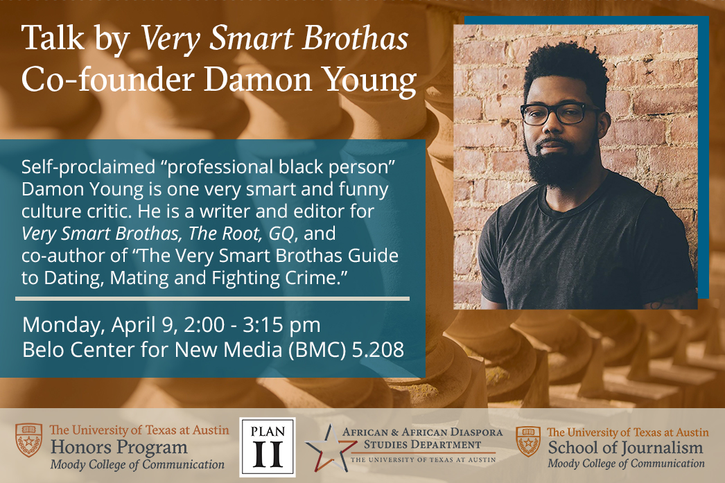Damon Young to give talk for Moody Honors Program