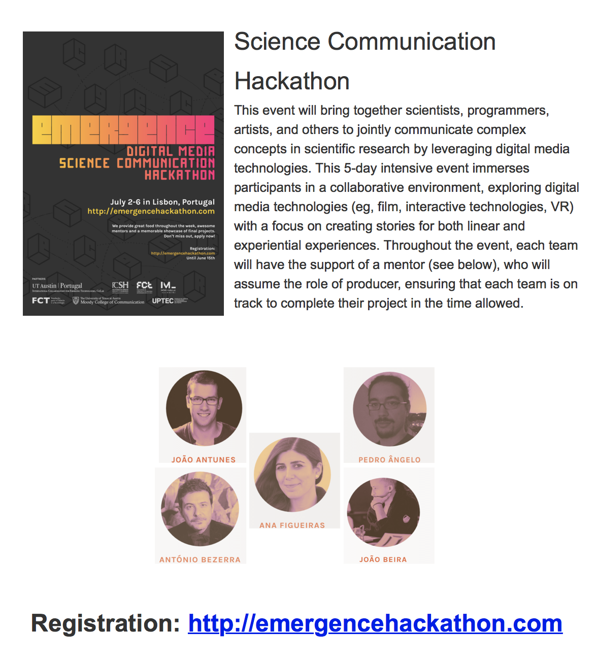 science communication hackathon