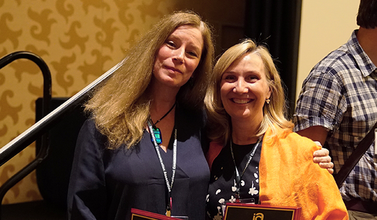 Karin Wilkins and Amy Jordan
