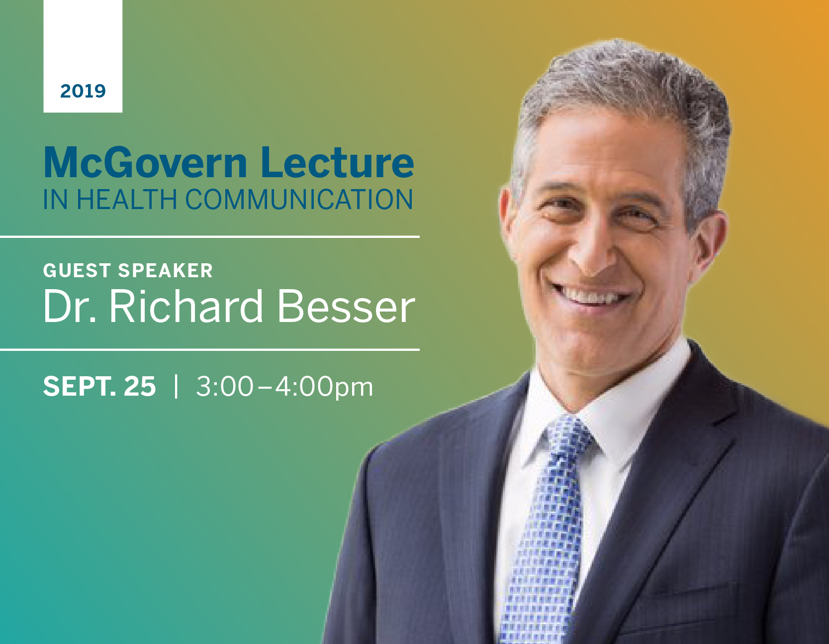 2019 McGovern Lecture in Health Communication