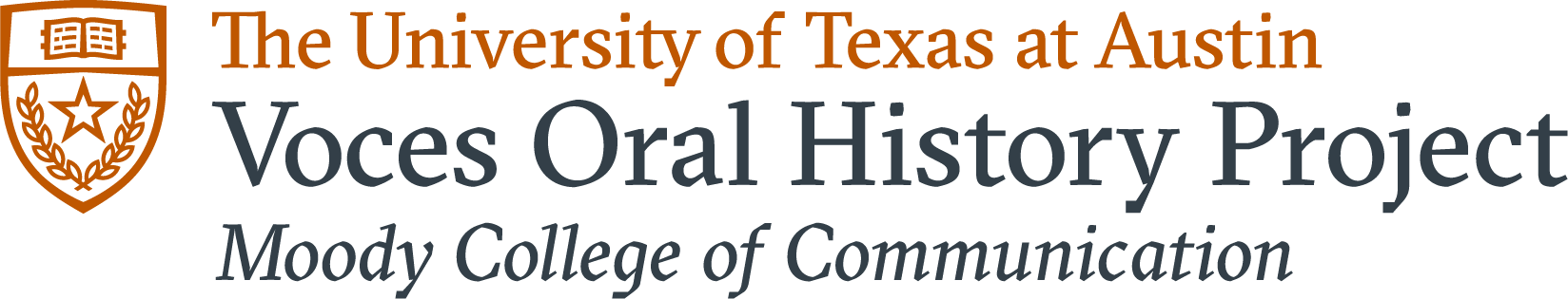 Voces Oral History Project UT Logo