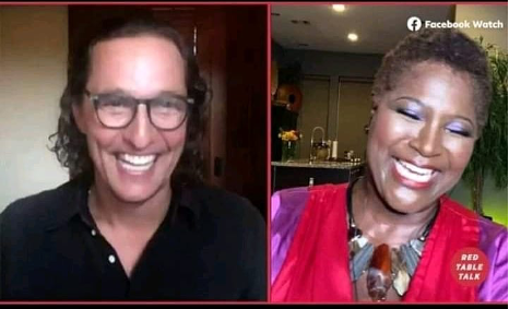 Tammy Smithers and Matthew McConaughey screenshot from TV appearance