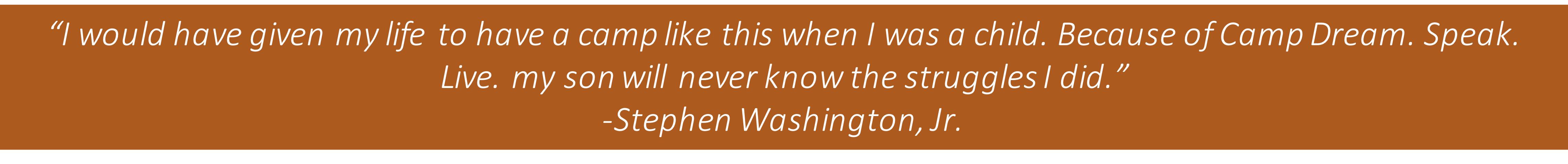 Stephen Washington Quote