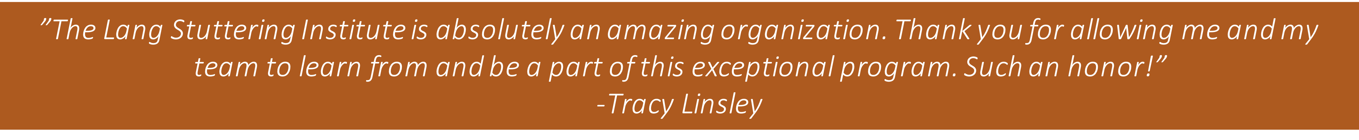 Tracy Linsley Quote