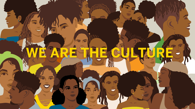"""Chantal Rochelle inspired """"We are the Culture"""" mural"""