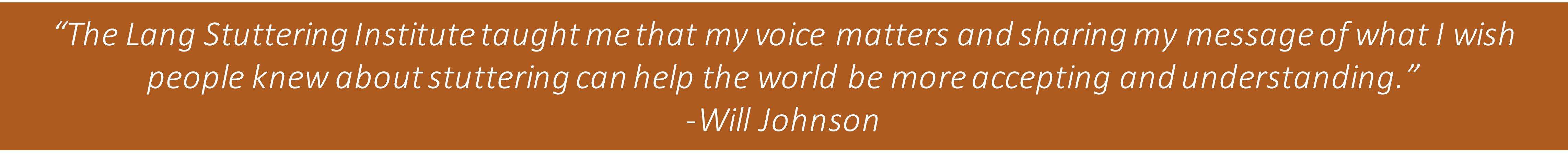 Will Johnson Quote
