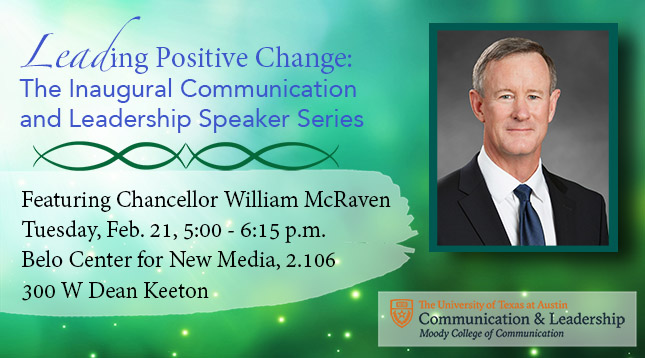 Chancellor McRaven Speech Event Poster