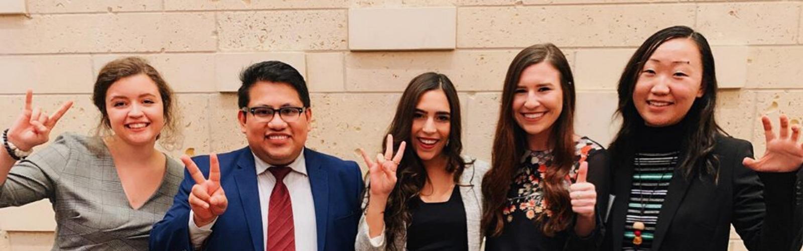 Photo of students serving as Texas Civic Ambassadors
