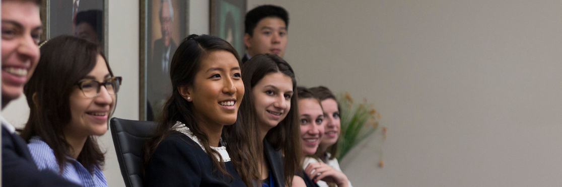 a group of young students smiling as they participate in the 2015 Campaign Bootcamp event