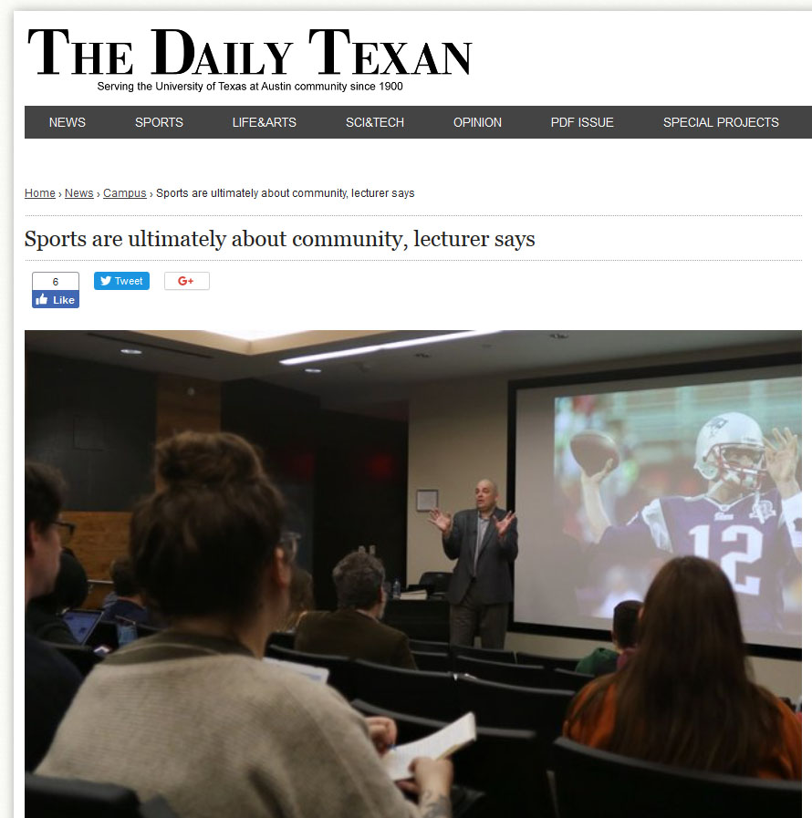 Daily Texan article