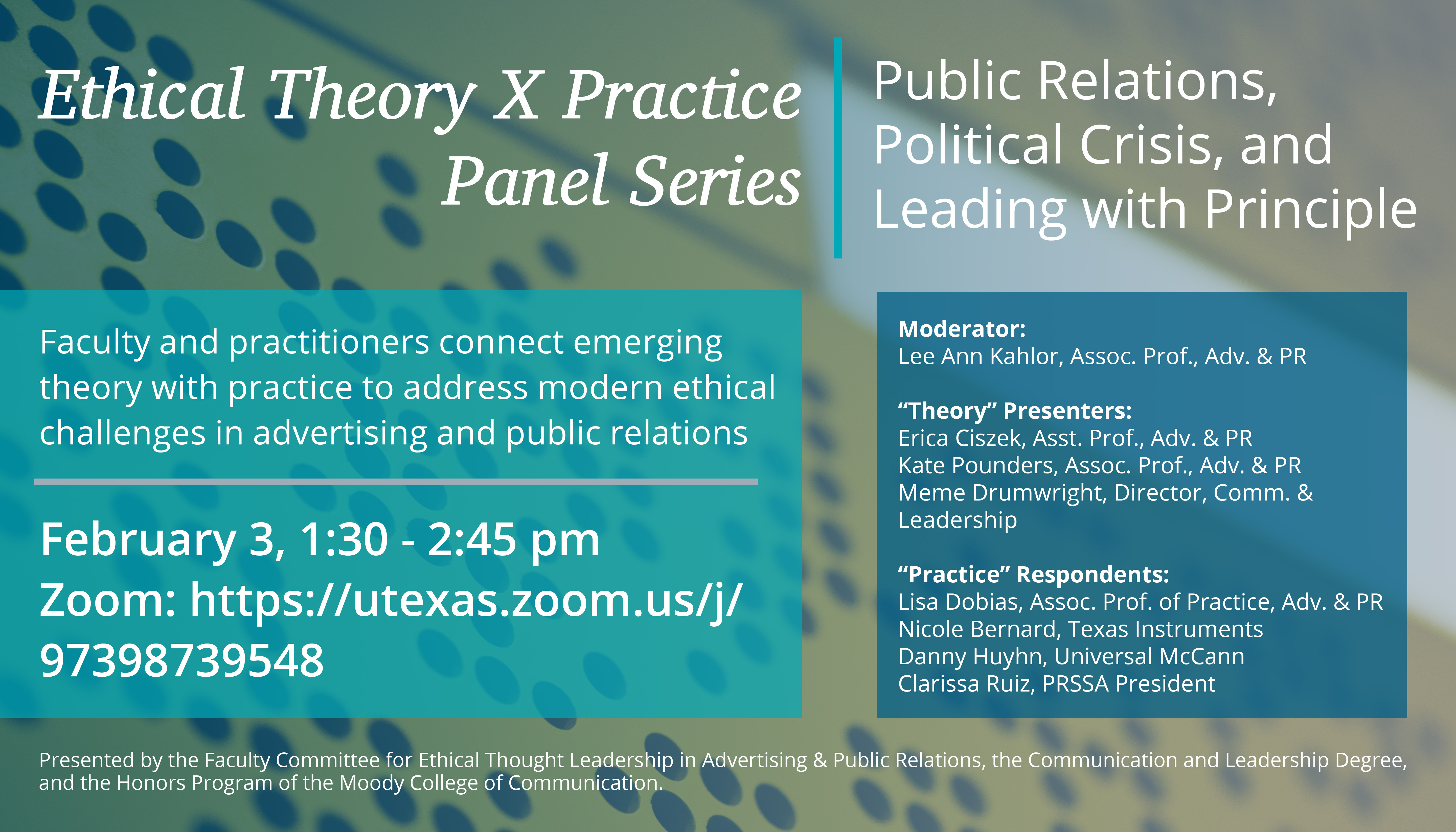 Ethical Theory X Practice Panel Series
