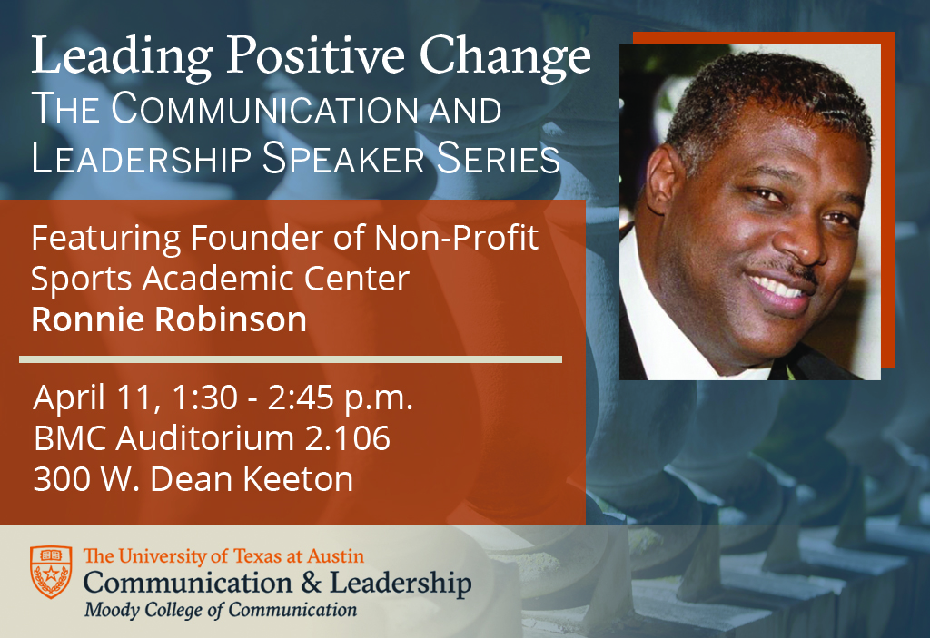 Communication and Leadership Speaker Series features Ronnie Robinson