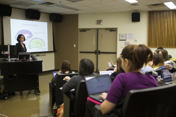 Maya L. Henry teaches classes on aphasia